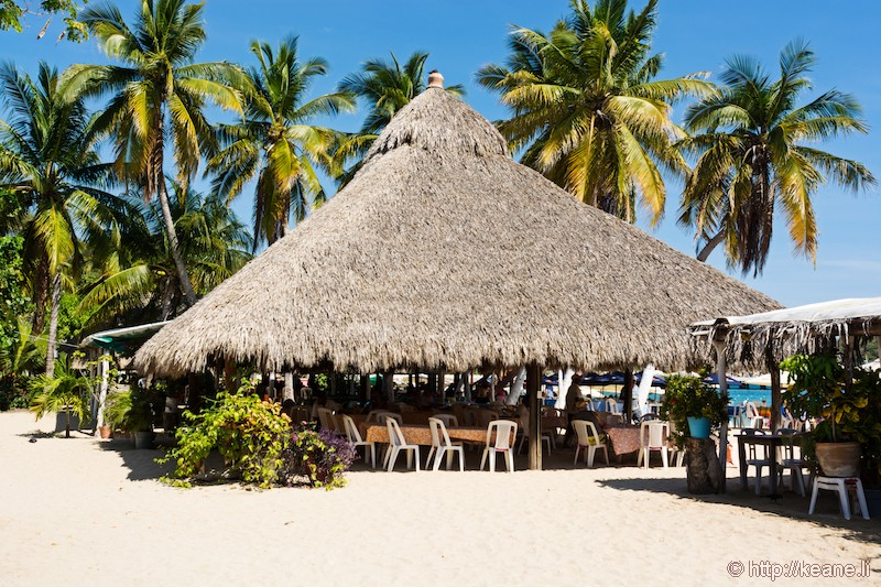 Straw Hut Restaurant in Huatulco, Mexico