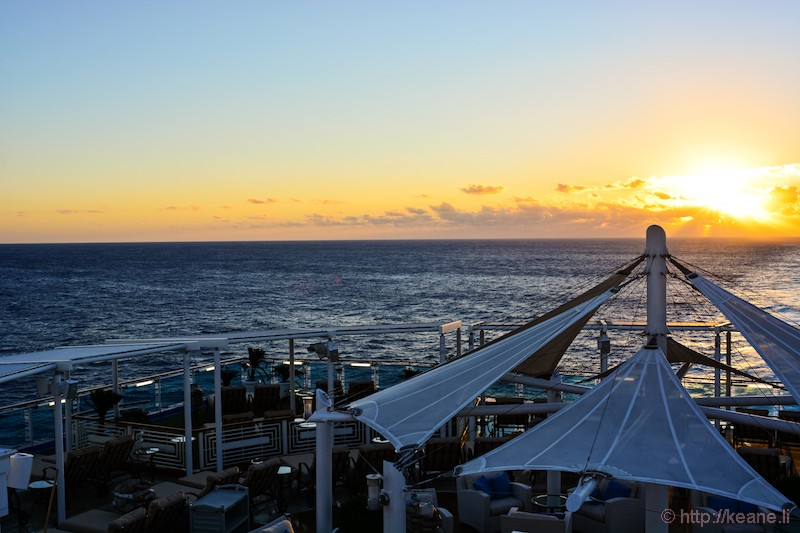 Sunset from the Island Princess