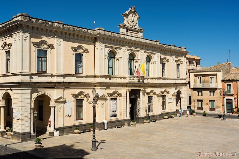 Town Hall and Piazza del Popolo in Palazzolo Acreide