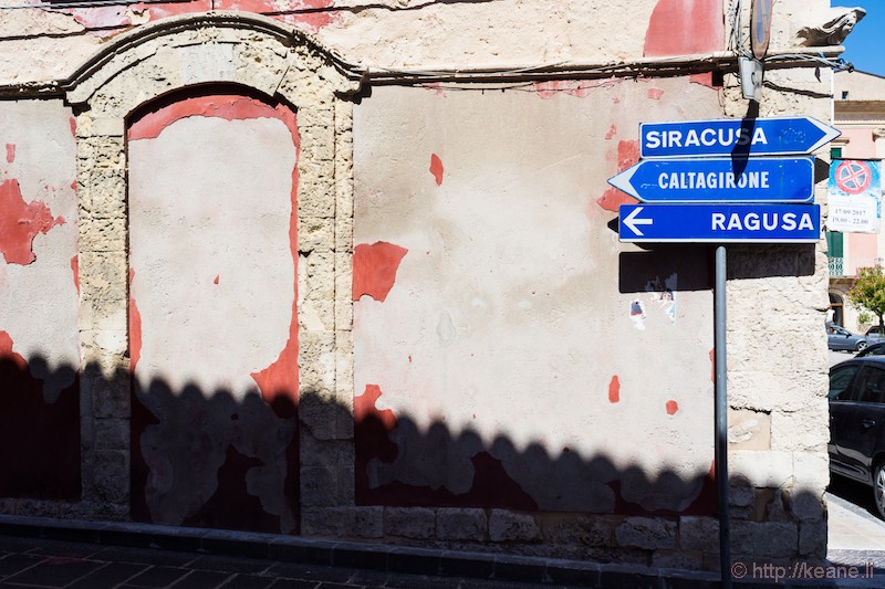 Sicily Street Signs in Palazzolo Acreide