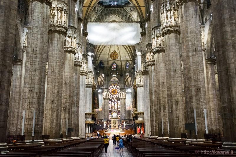 Inside the Milan Duomo