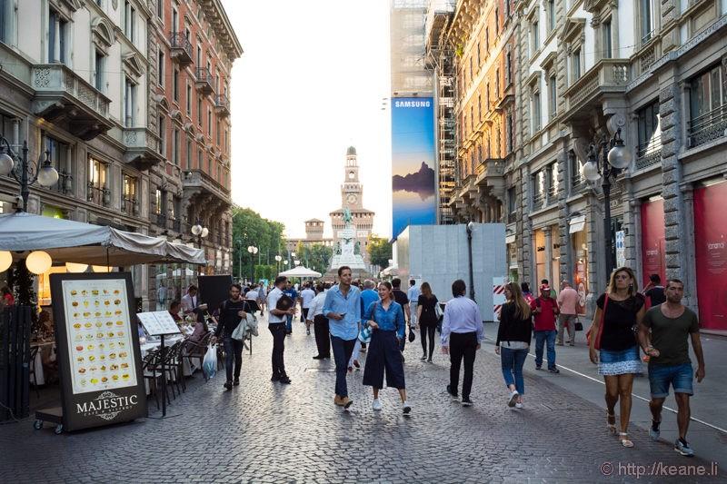 Via Dante in Milan