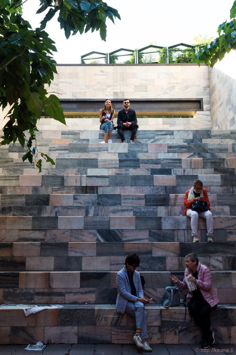 Steps Outside Armani