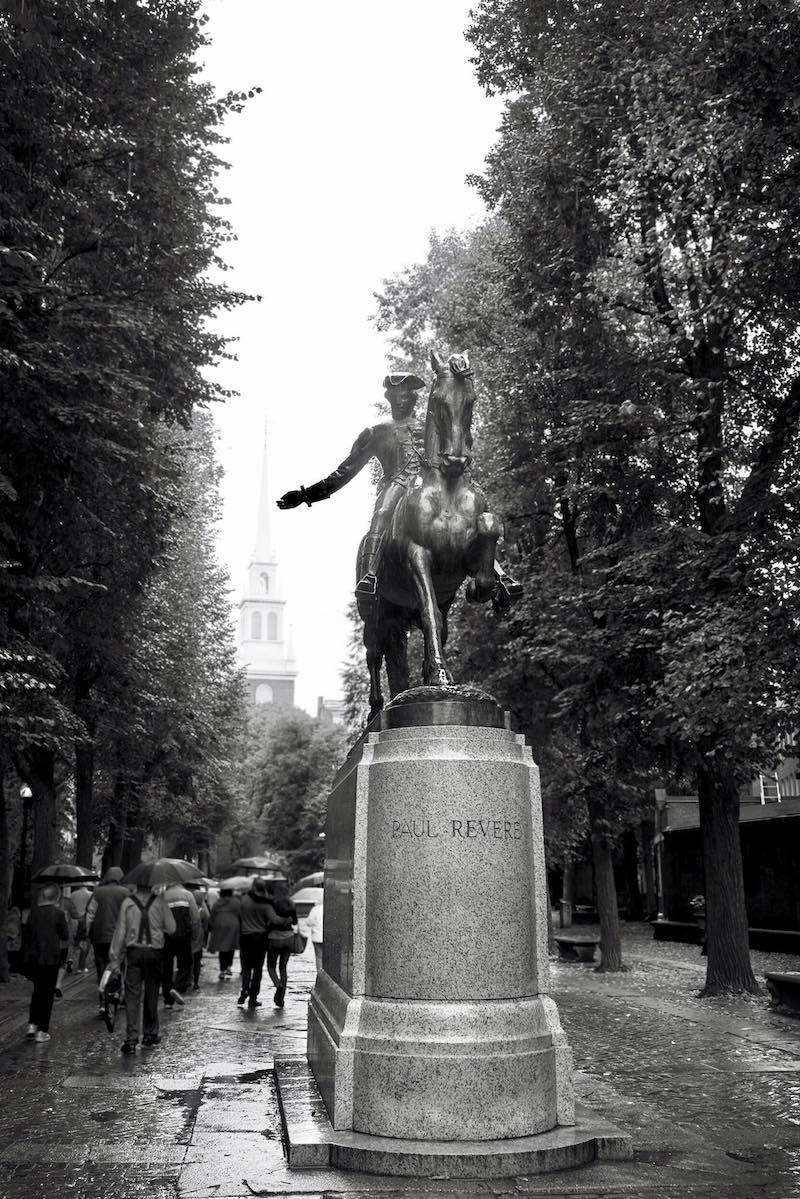 Paul Revere Statue in Boston