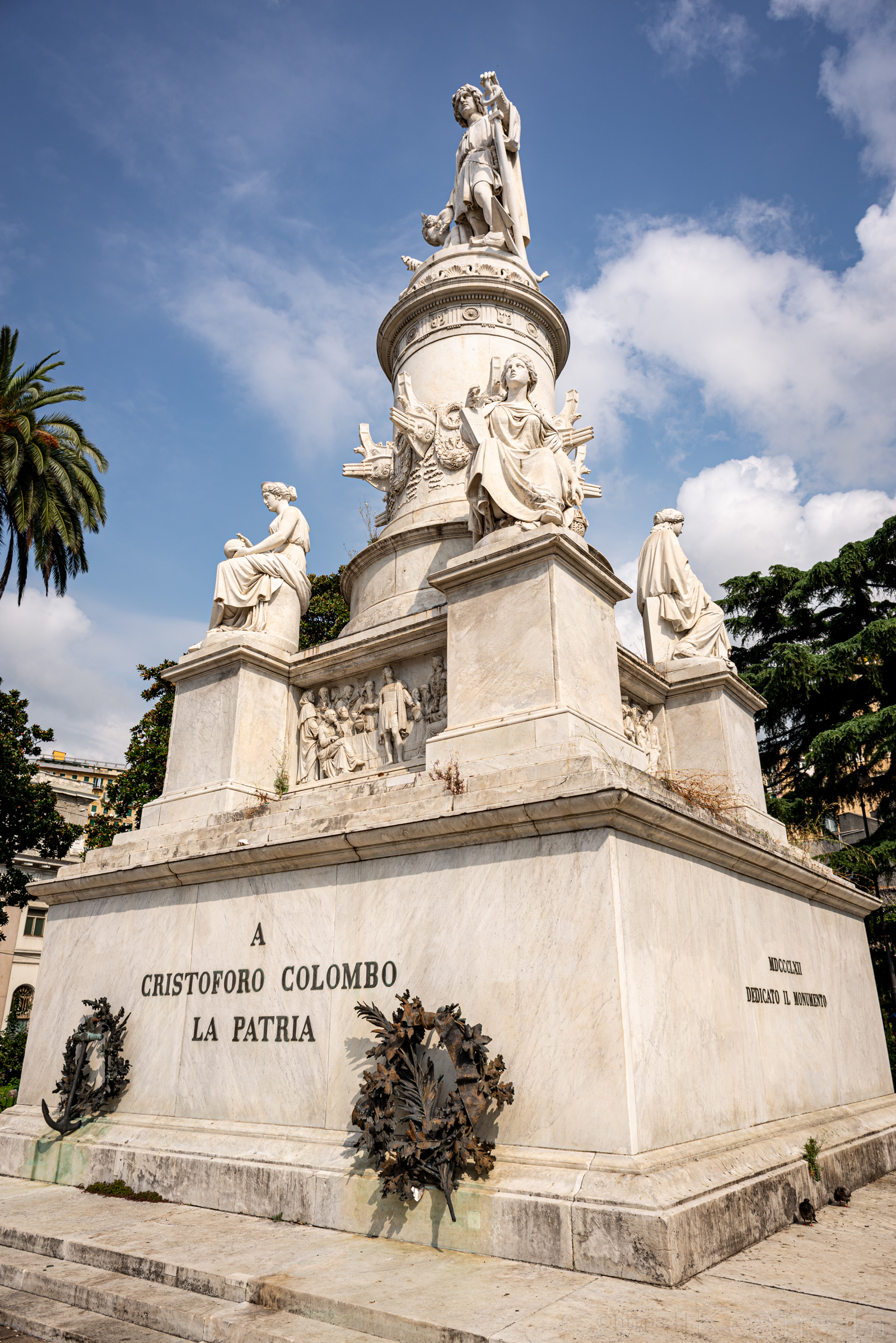 Christopher Columbus Statue in Genoa