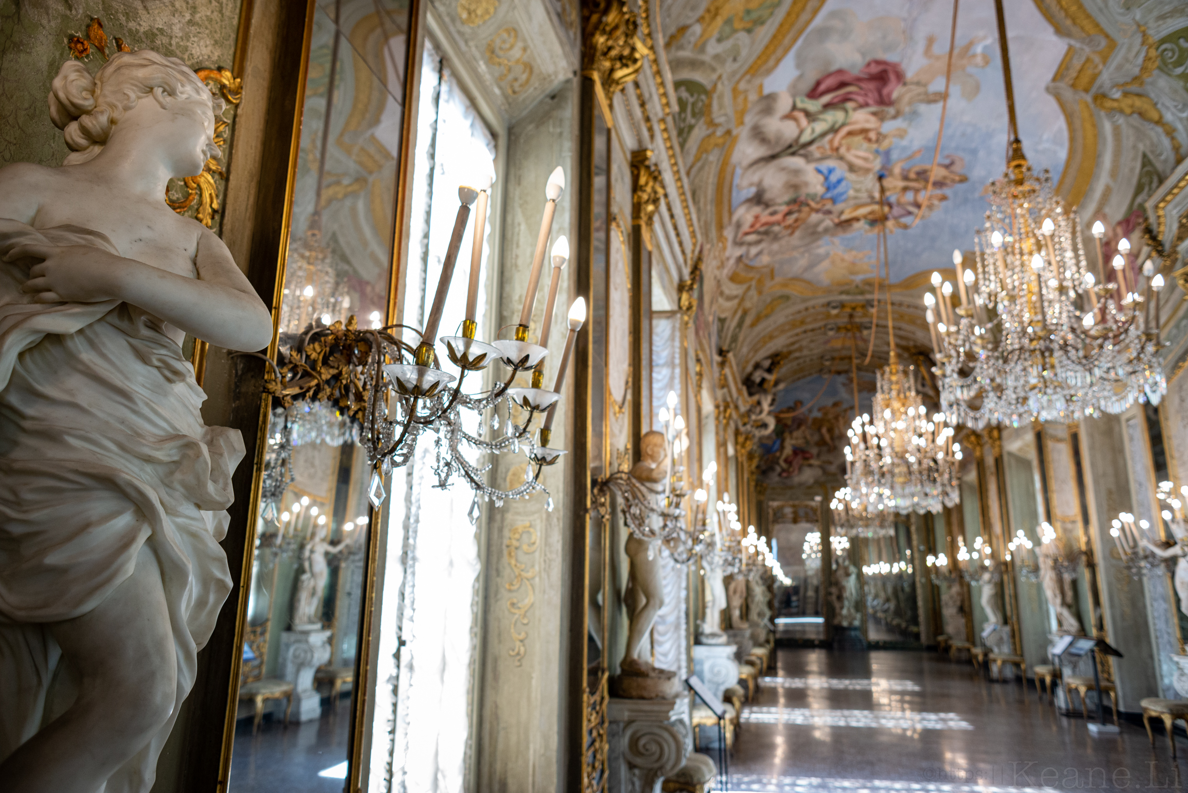Mirror Gallery in the Royal Palace of Genoa